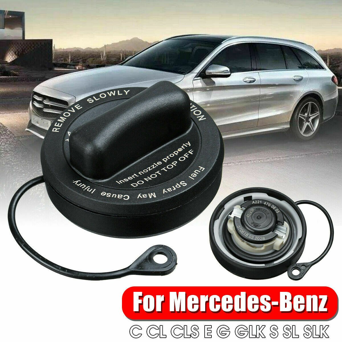 For Mercedes C CL CLS E G GLK S SL SLK-Class Fuel Tank Gas Filler Cap Factory