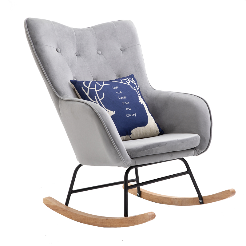 Rocking Chair Adult Rocking Chair Leisure Chair Balcony Nap Lazy Chair Nordic Modern Simple Single Reclining Chair