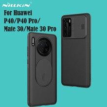화웨이 메이트 Huawei P40 Pro Mate 30 Pro 5G 프로 케이스 용 커버 nillkin camshield 케이스 슬라이드 카메라 커버 화웨이 메이트 Huawei P40 Mate30 용 개인 정보 보호 클래식 백 커버