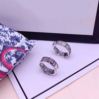 925 sterling silver Thai silver old male lion head ring 2019 new European and American style holiday gift