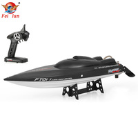 Original FT011 2.4G 55km/h High Speed RC Boat with Water Cooling Flipped Self righting Function Brushless Motor RC Racing Boat