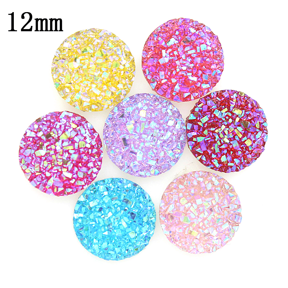 New Fashion 200pcs 12mm Snowflake Color Flat Back Resin Cabochons Cameo G5-31 image