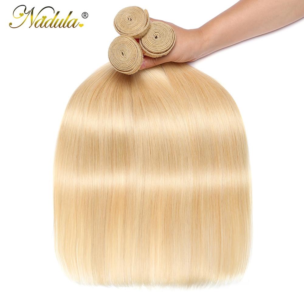 Nadula Hair #613 Blonde Hair Bundles  Straight Hair s 3 Bundles  Bundles 4