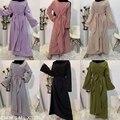 Eid Mubarek Abaya Dubai Türkei Hijab Muslimischen Kleid Indien Amerikanischen Islam Kleidung Kleider Für Frauen Vestidos Oman Musulman De Modus