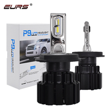 EURS P9 LED H4 H7 LED Car Headlight Bulb 100W Hi/Lo Beam H11 H8 H9 HB4 Auto LED headlight H13 Fog Light D2S D4S HID Bulb 13600LM