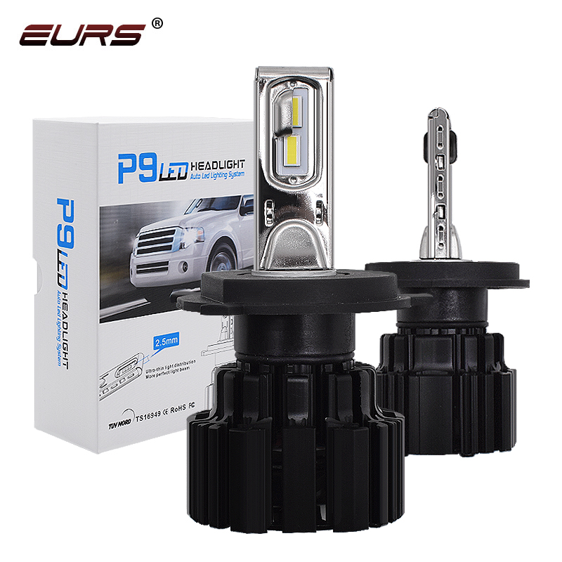 EURS P9 <font><b>LED</b></font> <font><b>H4</b></font> H7 <font><b>LED</b></font> Car <font><b>Headlight</b></font> Bulb <font><b>100W</b></font> Hi/Lo Beam H11 H8 H9 HB4 Auto <font><b>LED</b></font> <font><b>headlight</b></font> H13 Fog Light D2S D4S HID Bulb 13600LM image
