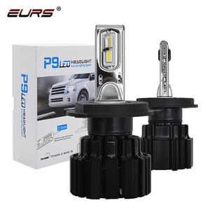 Image 1 - Eurs P9 led H4 H7 led 車のヘッドライト電球 100 ワット hi/lo ビーム H11 H8 H9 HB4 自動 led ヘッドライト H13 フォグライト D2S D4S hid 電球 13600LM