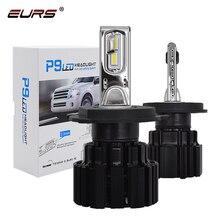 Eurs p9 led h4 h7 conduziu a lâmpada do farol do carro 100 w hi/lo feixe h11 h8 h9 hb4 auto led farol h13 luz de nevoeiro d2s d4s hid bulbo 13600lm