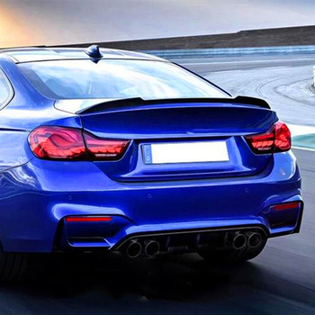 Use For BMW M4 Series Coupe F82 Spoiler 2013--2019 Year 2-door Carbon Fiber Rear Wing CS Style Accessories Body Kit image