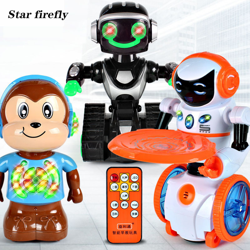 RC robot Remote control intelligent early education robot kids early education puzzle toys for children gifts