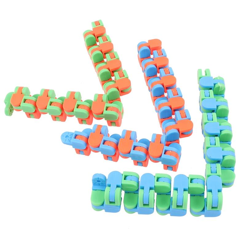 Sensory Toy Fidget-Toys Puzzles Autism Wacky Tracks Snap Kids Classic 1pc Click Snake img2