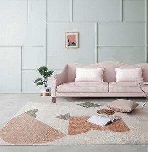 Абстрактный Узор геометрических узоров из овечьей шерсти, Европейский ковер, гостиная, спальня, учебный кофейный столик, декоративная комн...