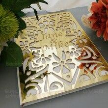 Personalizado casamento livro de hóspedes álbum personalizado assinatura oval branco em branco página interna mirro nomes data festa de noiva presente decoração g009