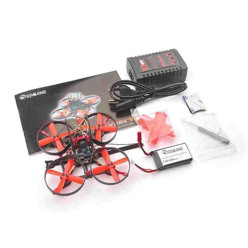 Wysokiej jakości Eachine dla Aurora 90 90mm Mini FPV Racing Drone BNF w/F3 OSD 10A BLheli_S Dshot600 5.8G 25MW 48CH VTX