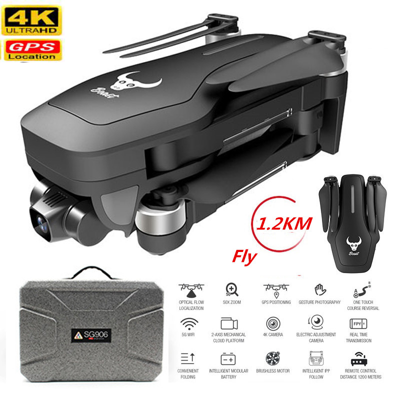 Best GPS Drone With 4K Camer 2-axis Anti-shake Self-stabilizing Gimbal HD 5G WIFI FPV Brushless Quadcopter Support TF Card