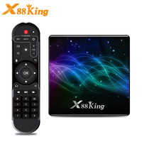 X88 King Amlogic S922X Smart Android 9.0 TV Box DDR4 4GB RAM 128GB ROM 2.4G 5G WiFi 1000M LAN Bluetooth 4.1 4K HD Media Player