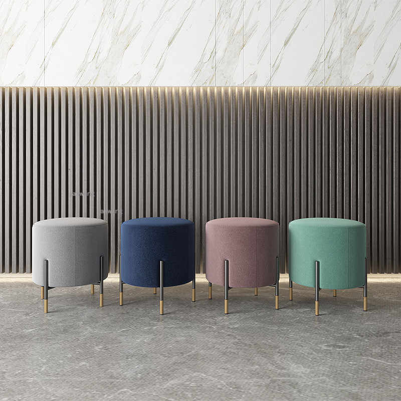 nordic shoe change stools modern minimalist designer creative sofa low stool fabric foot stool makeup ottomans furniture