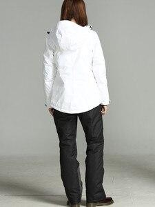 Image 4 - 2019 חורף מכנסיים נשים לבן סקי מכנסיים נשים סנובורד שלג מכנסיים נקבה סקי וסנובורד סקי סרבל עמיד למים
