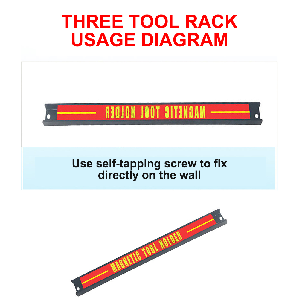 Магнитные державки Расточного оправкы крепкий металлический магнит Heavy Duty настенный держатель полосы для отвертка ключ, дюймовый стандарт