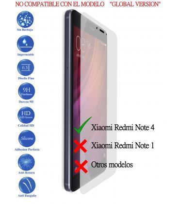 Protector De Pantalla Cristal Templado Vidrio Premium Para Xiaomi Redmi Note 4