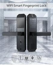 Tuya app умный дверной замок отпечатков пальцев rfid карта и
