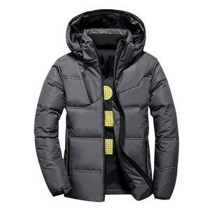 Image 4 - 2020 neue Winter Jacke Männer Mit Kapuze Dicke Warme Ente Unten Jacke Männer Parka Casual Hohe Qualität Herren Mantel Winter Unten mäntel Männer