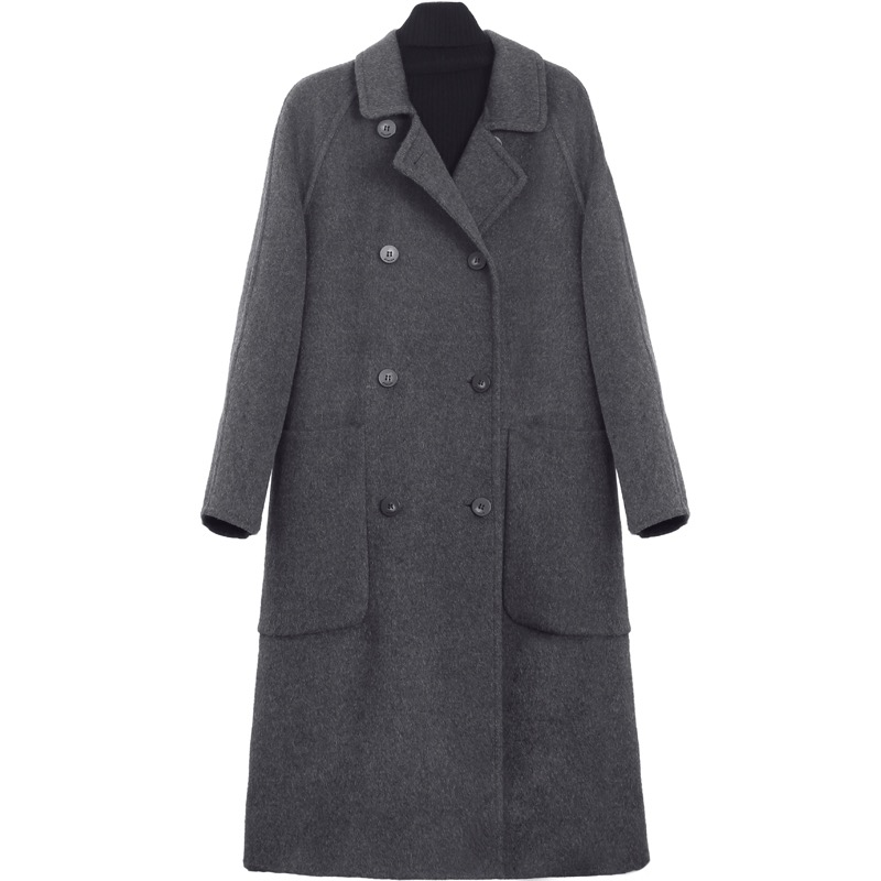 Купить 2020 высококачественное осенне зимнее шерстяное пальто женское