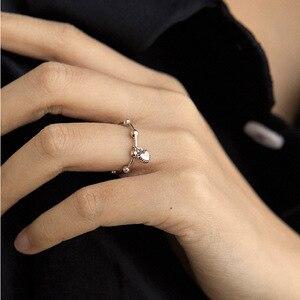 Todorova Ins New Fashion Gothic wisiorek w kształcie serca mężczyźni pierścionki dla kobiet biżuteria regulowany romantyczny ślub pierścionek zaręczynowy