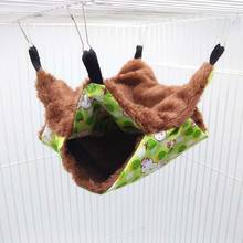 Pet Hammock Double-layer Plush Soft Winter Warm Hanging Nest Sleeping Bed Small Pets Hamster Squirrel Chinchilla House