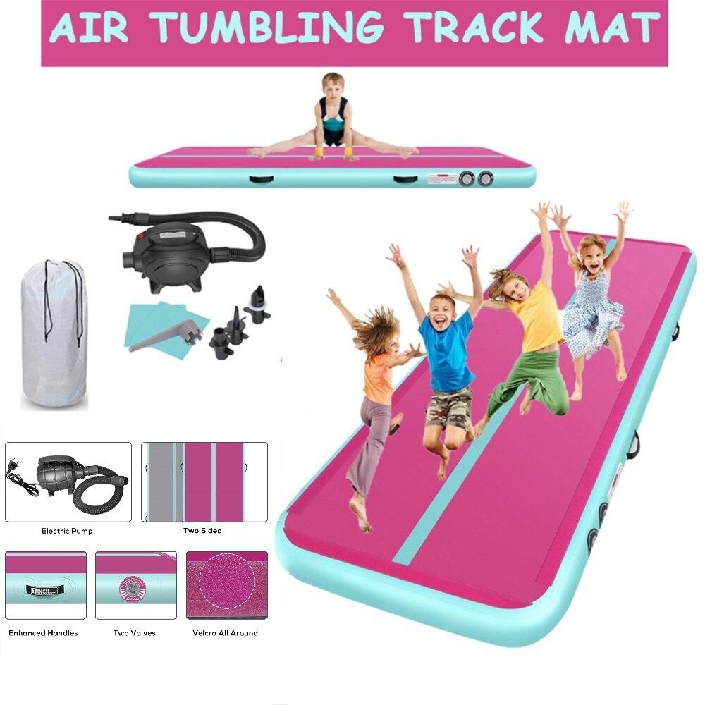 Rimdoc Air Track Gymnastics Airtrack Inflatable Child Sports Yoga Mat Tumbling Training Track Air Floor Rhythmic Gymnastics Use