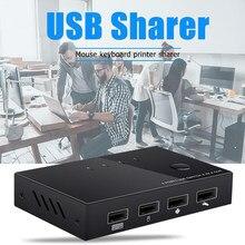 Porta 4 PCs di Condivisione USB KVM Switch Box USB 2.0 Switcher 4 Dispositivi per la Tastiera Mouse Stampante Monitor Interruttore Selettore