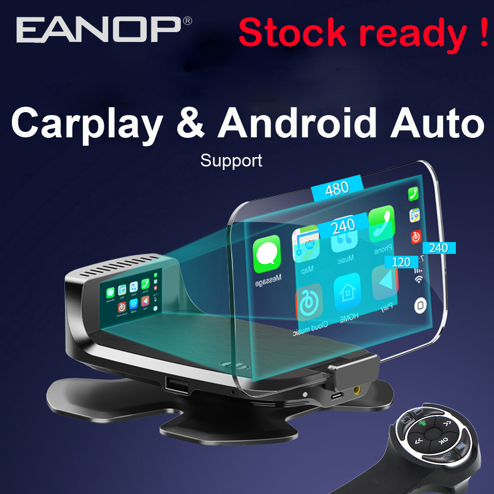 2020 EANOP HUD  M60 OBD2 Head Up Display  Wireless Steering Wheel Remoter Support Carplay Andorid Auto FM GPS Navigation