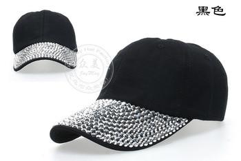 2020 New Baseball Cap Women Solid Color Fashion Adjustable Casual Baseball Caps Rhinestone Simple Outdoor Woman Hats New#B125