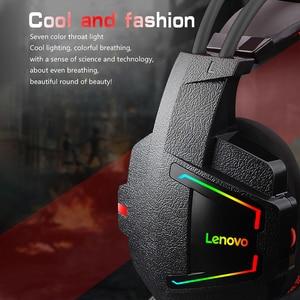 Image 3 - Lenovo HU85 Gaming ชุดหูฟังสเตอริโอแบบมีสายหูฟัง USB Gaming หูฟังพร้อมไมโครโฟนสำหรับแล็ปท็อป PS4