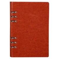 A5 Spirale Notebook 6 Ringe Leder Hard Cover Lose Blatt Persönliche Reise Tagebuch Journal Business Planer Veranstalter
