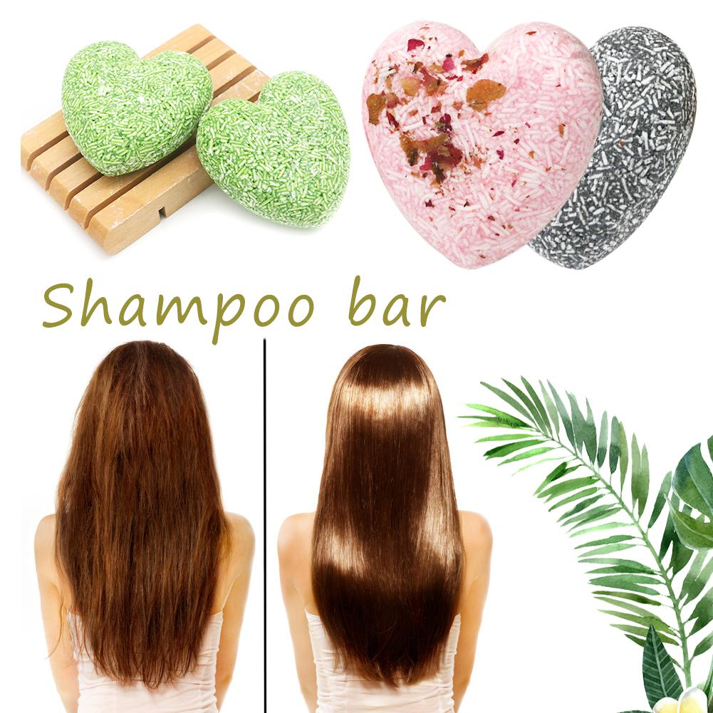 3 Flavors Handmade Hair Shampoo Soap Eco-Friendly Solid Shampoo Bar Natural Refreshing Oil-control Soap Bar For Women Hair Care