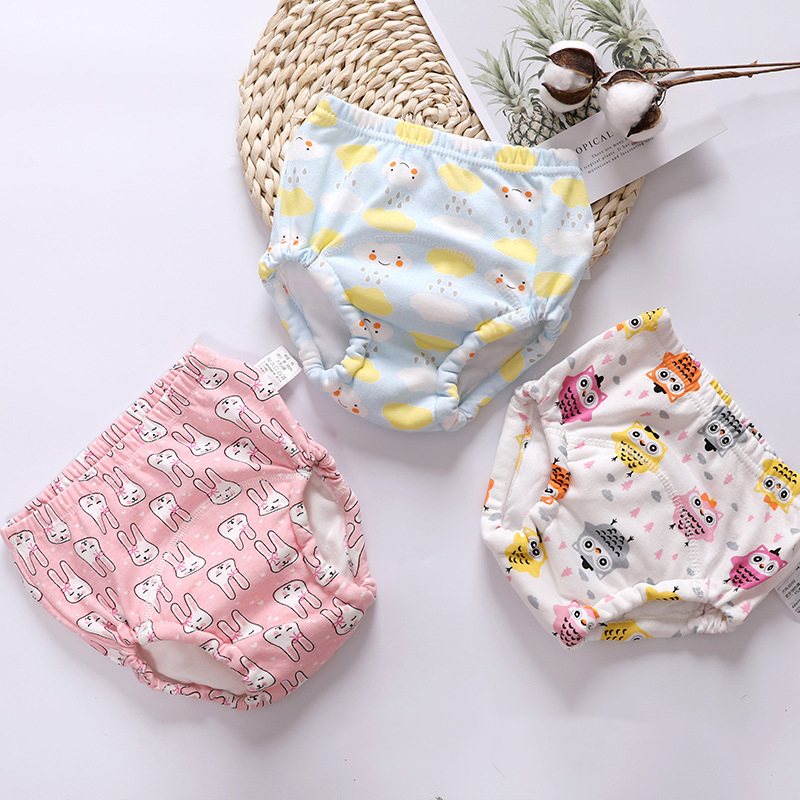 6 Layer Baby Cotton Training Pants Panties Baby Cloth Diapers Reusable Child Nappies Diaper Waterproof Baby Underwear Washable