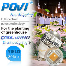 Full Spectrum 380-780nm Lmitate Sunlight Led Grow Light 50W 70W Plant Lamp E27 Built-in fan Cooling for Indoor Plants