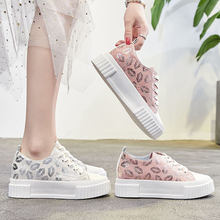 Купить с кэшбэком Women Height Increasing Shoes White/Pink Genuine Leather Spring/Summer/Autumn/Winter Casual Ladies Female Shoes Loafers Footwear