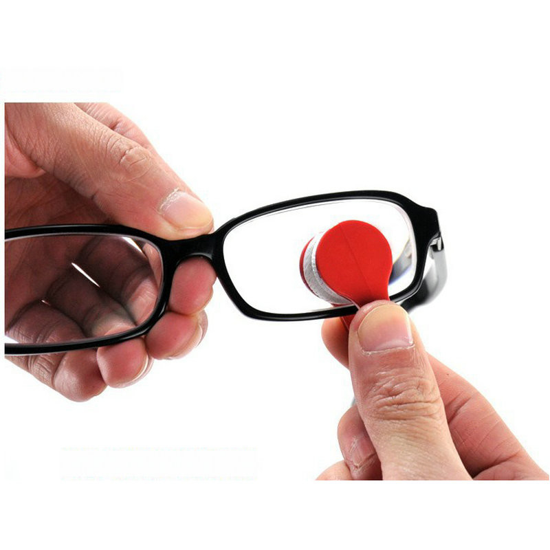 Portable Multifunctional Glasses Cleaning Rub Eyeglass Sunglasses Spectacles Microfiber Cleaner Brushes