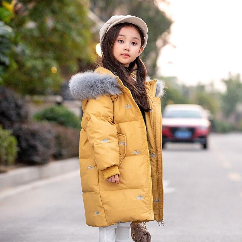 Русский младшего возраста Детское пальто теплое пальто для девочек, куртки-парки, верхняя одежда для подростков одежда для девочек, для дет...