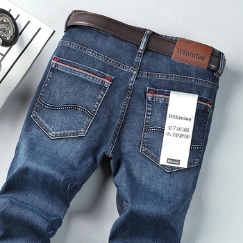 2021 Spring and Autumn Men's A variety of styles Classic Jeans Elastic Men's Stretch-fit  Jeans Business Casual Classic Style 1