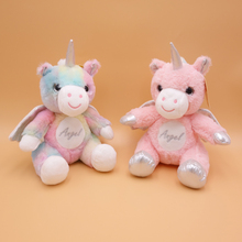 New Dream Angel Unicorn Plush Toy Baby Comfort Childrens Room Decoration Birthday Gift