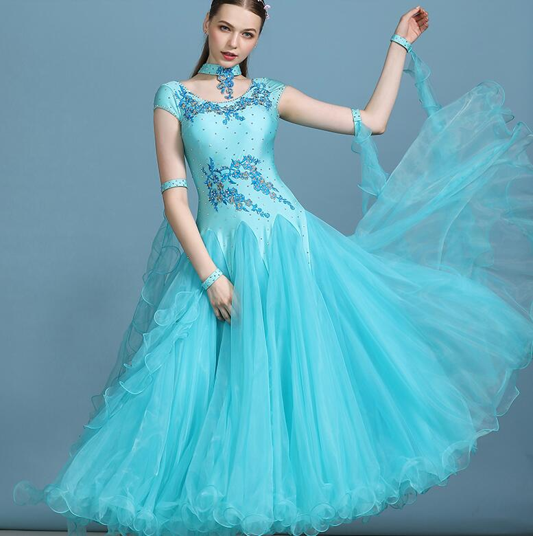 Womens Ballroom Competition Dance Dresses Dress Tango Ballroom Dresses Ballroom Waltz Dresses Pink Blue White My819