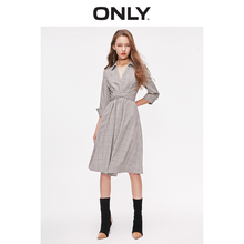 ONLY Women's Slim Fit Lace-up Mid-length Shirt Dress | 119107516