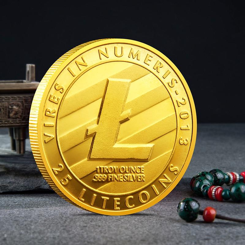 Монеты Litecoin, коллекция монет, физический подарок, коллекция искусства, дома, праздника, Декор, имитация Dia|Безвалютные монеты|   | АлиЭкспресс