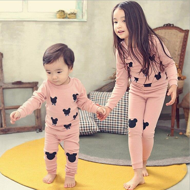 Big Boy Children Thermal Underwear Men And Women Children Underwear Suit Cotton Baby Pajamas Tracksuit