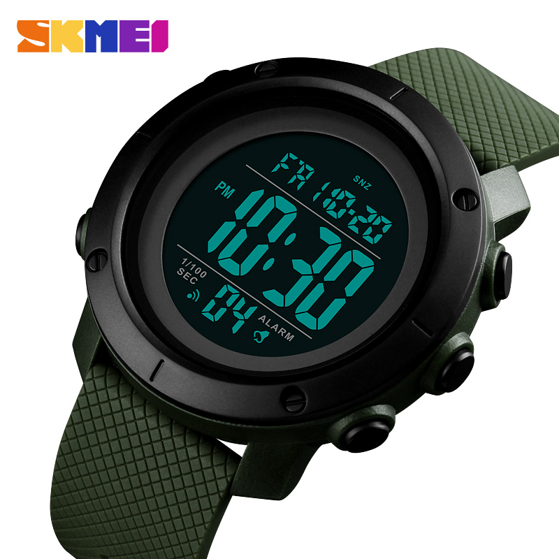 SKMEI Men Watch Digital Sports Outdoor Watches Stopwatch Double Countdown Alarm Clock Waterproof Watch Relogio Masculino