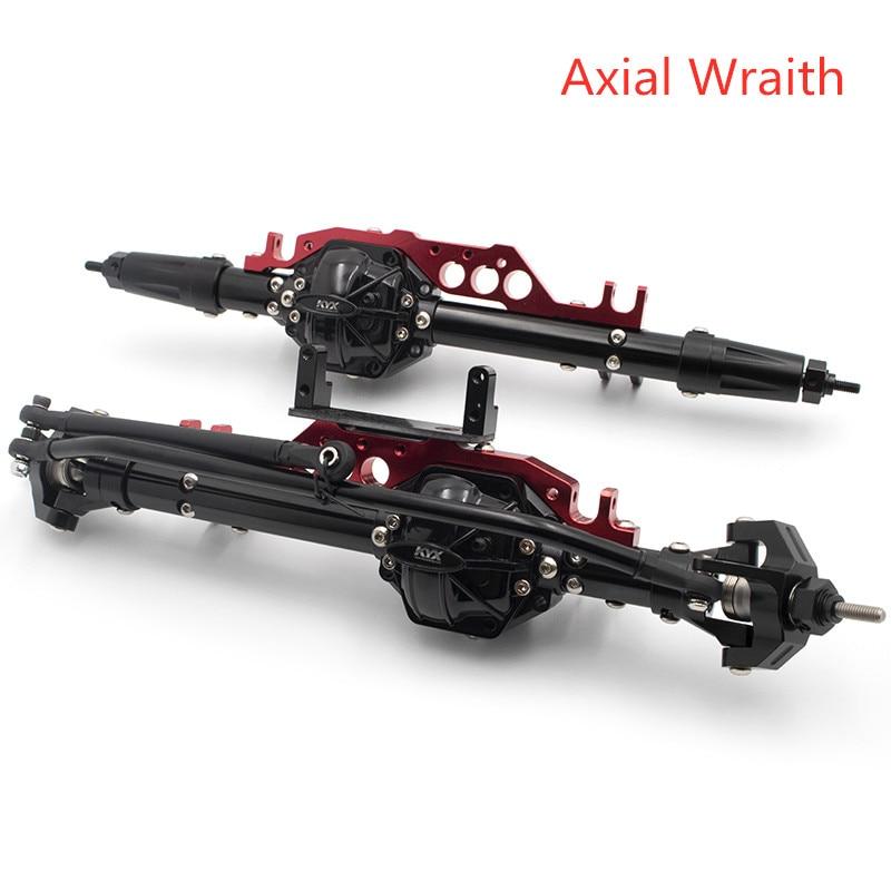 1/10 rc chenille voiture KYX billet usiné avant et arrière essieu arrière pour camion Axial Wraith