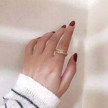 Минималистичные винтажные золотые матовые металлические кольца